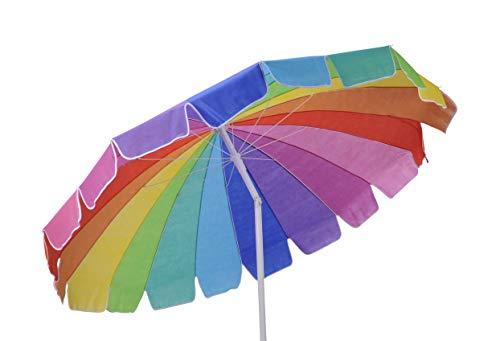 Meinposten. Sonnenschirm Strandschirm knickbar Gartenschirm Balkonschirm Ø 200 cm bunt