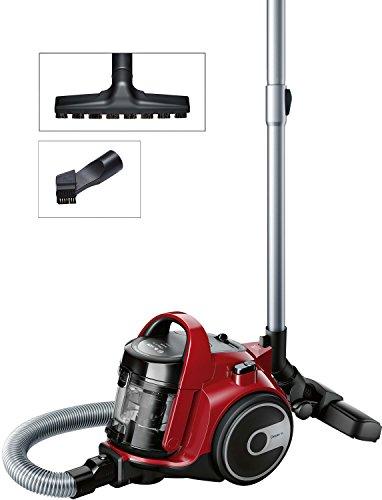 Bosch BGC05AAA2 Aspirapolvere a Carrello Senza Sacco, 700 W, 1.5 Litri, 78 Decibel, Rosso e Nero