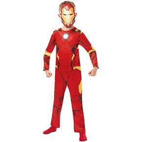 Rubies 640886 Marvel Avengers Iron Man Classic - Disfraz infantil (talla única, 9 a 10 años, 140 cm)