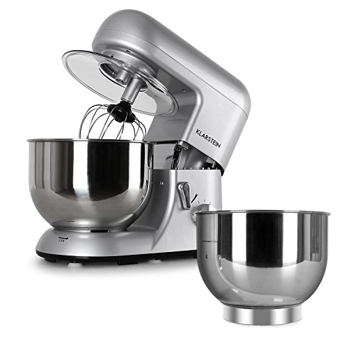 Klarstein Bella Argentea Set Robot da Cucina Multifunzione Mixer impastatrice planetaria + Ciotola...