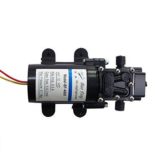 Bomba Nuzamas de diafragma de cebado automático de alta presión, 12 V, 80W, 7 bar, 5.0L/min para caravana, barco, lancha, etc.