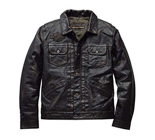 HARLEY-DAVIDSON Men's Digger Slim Fit Leather Jacket - 98036-19VM
