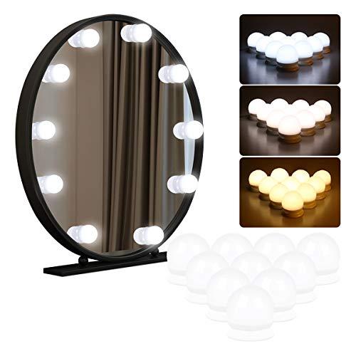 Luci da Specchio, Kakanuo Luci LED Stile Hollywood per Trucco,Lampadine Dimmerabili a Specchio...