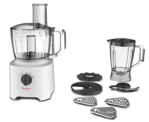 Moulinex FP2461 Easy Force, Robot da Cucina All-in-One, 6 Accessori per 25 Diverse Funzioni,...