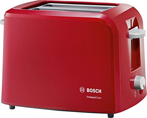 Bosch TAT3A014 Tostapane Compatto, 980 W, Plastica, Rosso