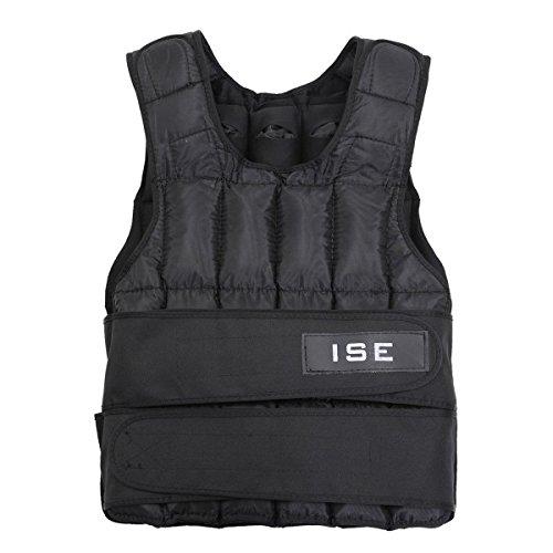 ISE Gewichtsweste Verstellbar von 5 kg 10 kg 15 kg 20 kg 25 kg 30 kg Gewicht Warnwesten für Gewicht Training Krafttraining Übung sy3002 (25.00)