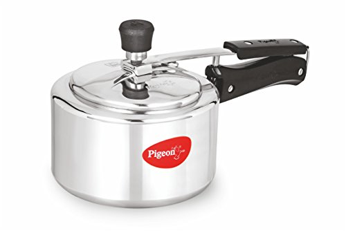 Pigeon Favourite Aluminum Induction Base Pressure Cooker with Inner Lid, 3 Litres, Silver