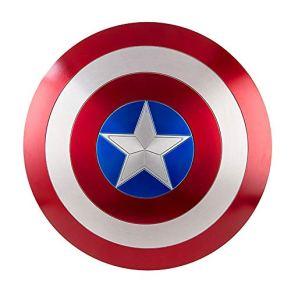 Escudo del Capitán América, Hecho en Escala de Metal 1/1, Modelo Marvel Infinity War, Hecho en Escala de Metal 1/1, para niños y fanáticos de Cospiay (60Cm),Painted