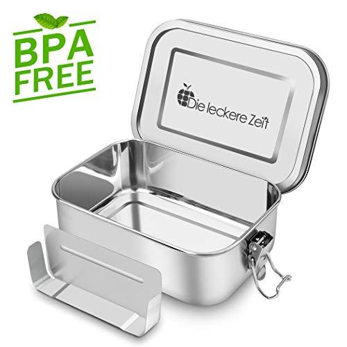 Auslaufsicher Edelstahl Brotdose BPA und Plastikfreie Brotbox mit Flexibler Abtrennung 800ml Metall lunchbox Nachhaltig Geeignet für Wandern/Reisen/Schule Kinder