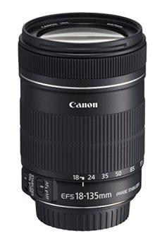 Canon 18-135/3.5-5.6 EF-S IS - Objetivo fotográfico (distancia focal 18-135mm, apertura f/3.5-22, zoom óptico 7.5x,estabilizador óptico, diámetro: 75.4mm), Negro