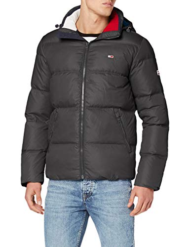 Tommy_Jeans Essential Down Jacket Giacca, Nero (Tommy Black Bbu), Small Uomo