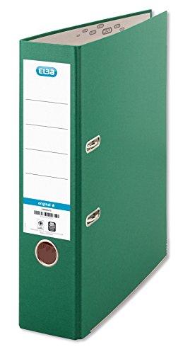 ELBA 100202219 Ordner smart Original Papier 8 cm breit DIN A4 grün - für den täglichen Gebrauch Zuhause oder im Büro