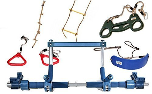 No more 'go out and play', the Gorilla Gym brings the action right on your doorway. It's simply a pull-up metal frame that you install on your doorway and you can attach various play attachments including a swing, a rope ladder, a trapeze, and plastic rings. Consider it a playground on steroids inside your home. The equipment arrives in a small box and installing it isn't overly difficult. It has a decent weight limit of 136kgs (if only two kids can swing at the same time), meaning adults too can use this indoor gym. Available at budget price, this is the certainly the best indoor climbing frame for the whole family.
