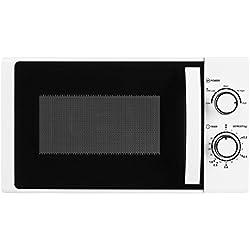 MEDION MD 16945 Mikrowelle / ca. 700 Watt Leistung / ca. 17 Liter Kapazität / 5 Leistungsstufen / Auftaufunktion / 35 Minuten Timer / lackiertes Metallgehäuse / weiß