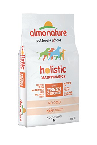 Almo Nature holistic dog adult medium mangime secco gusto pollo e riso kg.12