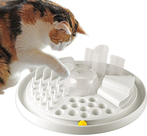 katzeninfo24.de Bayer Design 05005 Edupet Katzenspielzeug Cat Center – intelligentes Futterspiel/Activity Board