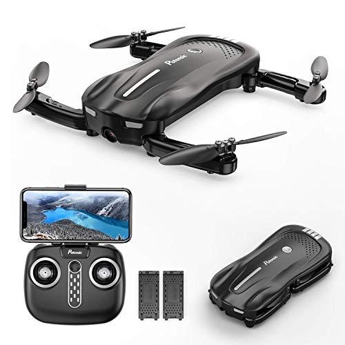 Potensic Drone Pieghevole con Fotocamera 1080P a Flusso Ottico D18 WiFi PFV Quadricottero con Due Batteria 16-20 Minuti di Volo Mantenere l'Altudine Drone RC Anti-collisione per Bambini e Adulti