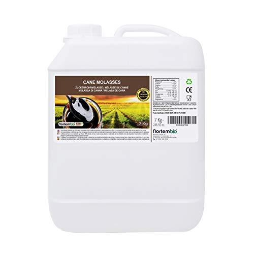 NortemBio Agro Melassa di Canna 7 Kg. 100% Naturale. Favorisce la Crescita delle Colture. Uso Universale. Non Solforata. Prodotto CE.