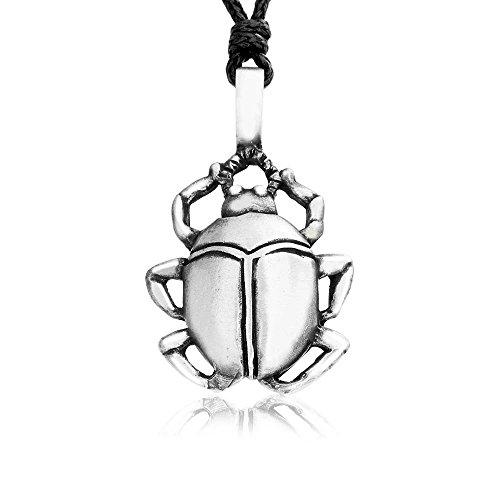 Joyería Llords | Collar con colgante Escarabajo Egipcio, Joyas de Peltre de la Mejor Calidad