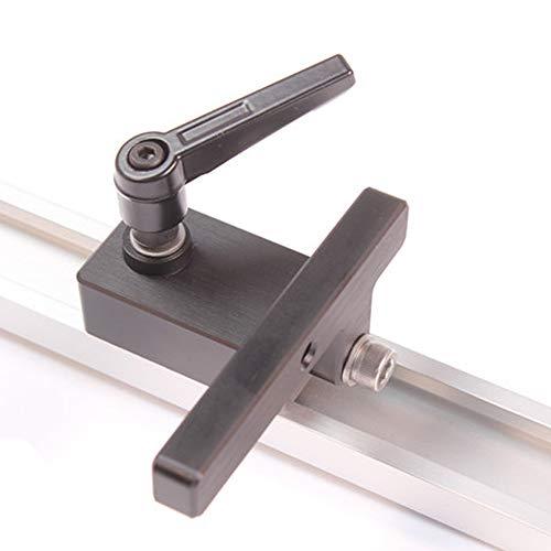 KKmoon Ranura en T Mitre Tapón de la Pista Aleación de Aluminio Límite del Chute Flip Manual de carpintería Herramienta de bricolaje