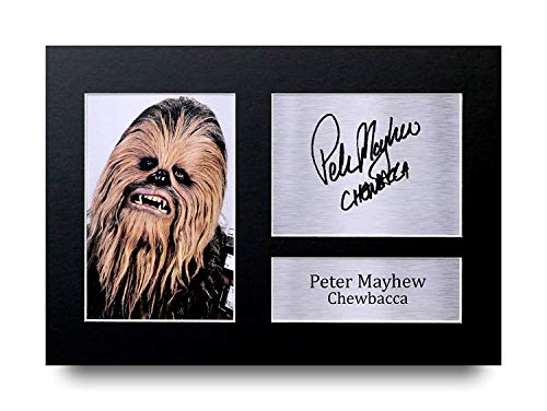 Peter Mayhew I Regali Firmarono A4 Stamparono Autografo Star Wars Chewbacca Stampi Mostra di...