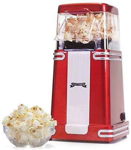 Gadgy ® Popcorn Maschine   Retro Popcorn Maker   Heissluft Ohne Fett Fettfrei Ölfrei