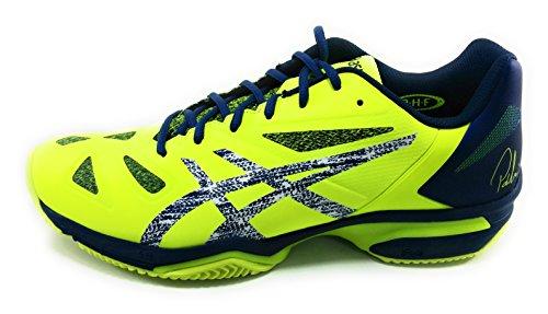Asics Gel-Lima - Scarpe Padel e Tennis Uomo - Safety Tellow/Dark Blue - E709Y 0749 (42)