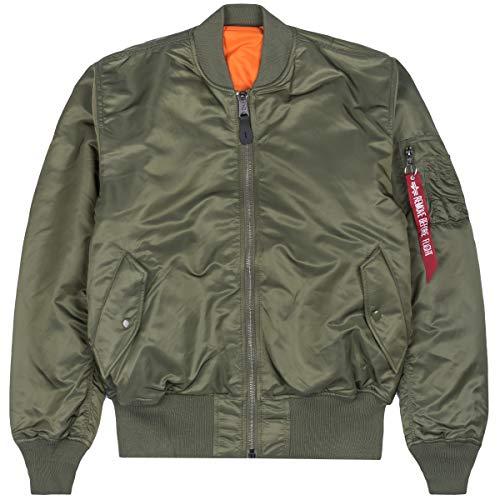 ALPHA INDUSTRIES Kids Bomber Jacket MA-1 TT, Colore:Sage-Green, Taglia:158-164