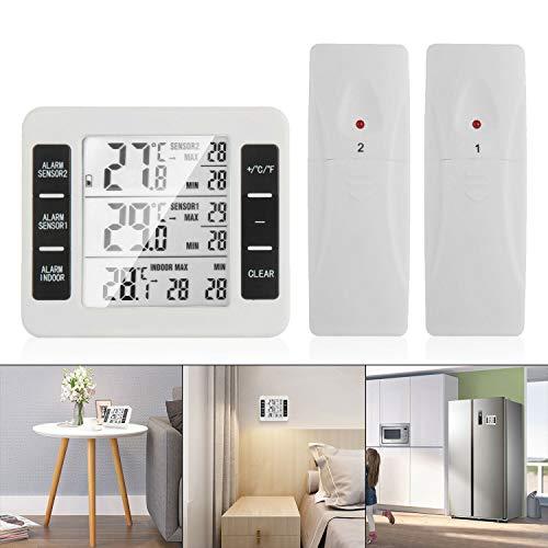 OurLeeme Termometro Digitale Wireless, Termometro Frigorifero LCD Schermo Digitale Allarme Acustico...