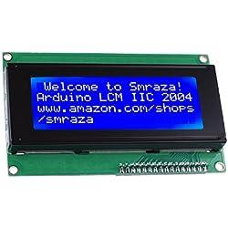 Smraza IIC I2C TWI LCD 2004 / 20x4 Pantalla LCD Módulo Shield Display para Arduino Uno Mega 2560