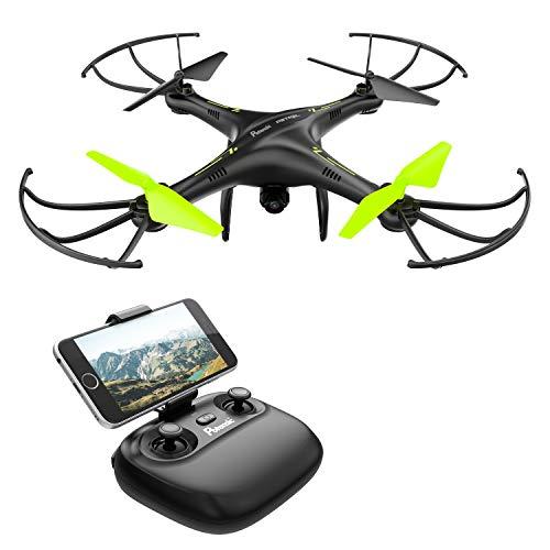 Petrel U42W Drone con Telecamera Quadricottero, 720P HD Wifi Camera, Nero