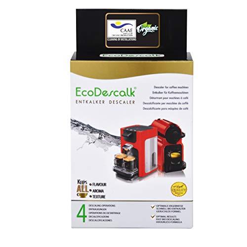 EcoDescalk Biologico in Polvere, 4 Sacchetti. Decalcificante 100% Naturale. Detergente per Macchine...