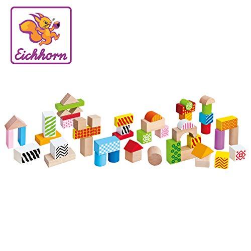 Tambor con 50 bloques de madera de colores  (Eichhorn 2226)