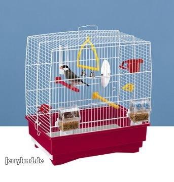 Ferplast - Rekord 2,Gabbia per Uccelli di Colore Bianco