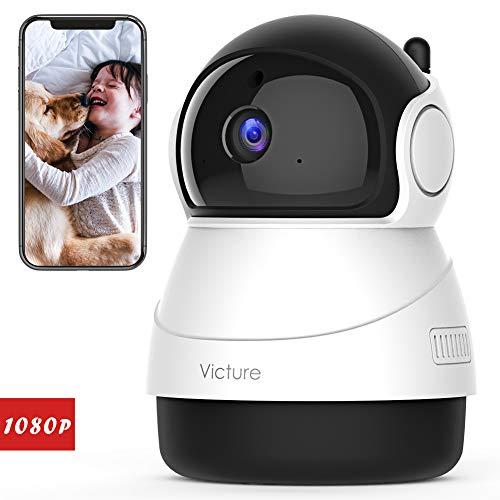 Victure FHD 1080P Telecamera di Sorveglianza WiFi,videocamera IP Interno Wireless con Visione...