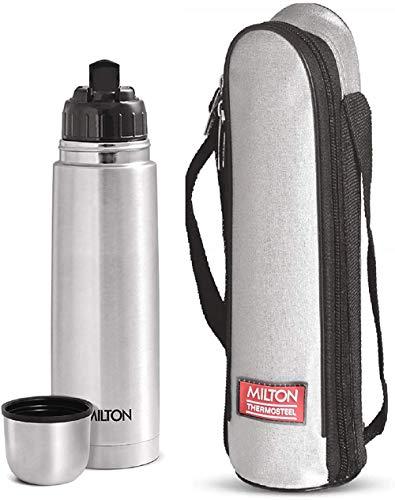 Milton Thermosteel Flip Lid Flask, 500 milliliters, Silver