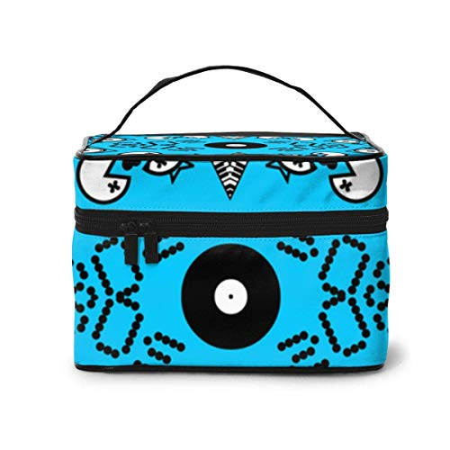 Borse per cosmetici 80s Icons On Bright Blue Fabric 709(607) Travel Makeup Bag Portable Makeup Boxes...