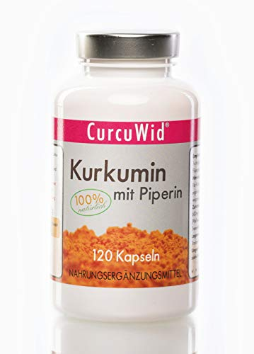 CurcuWid Kurkumin mit Piperin / 120 Kapseln / a 620mg / 4 Monatsvorrat/ 1 Kapsel tgl. / extra stark