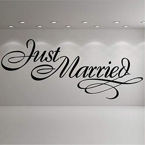 Olivialulu Just Married Elegante Logo Matrimonio Adesivi Murali Occasioni Decorative Art...
