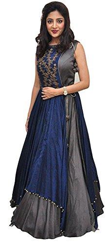 Aarna Fashion Women's Poly Cotton Princess Cut Lehenga Choli (New Trendy 20-20_Grey_Free Size)