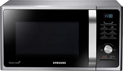 Samsung MS28F303TAS/EG Mikrowelle / 1000 W / 28 L Garraum (Extra groß) / 16 Vitalprogramme / Eco Modus / Keramik-Emaille-Innenraum / silber