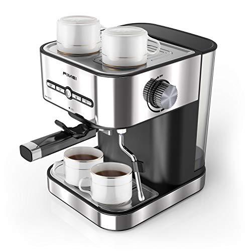 FIMEI Cafetière Expresso, Machines à Café Expresso 15 Bars, Machine à Expresso avec Mousseur à Lait pour Cappuccino et Latte, avec Fonction de Chauffage, 1500ml Amovible Réservoir D'eau