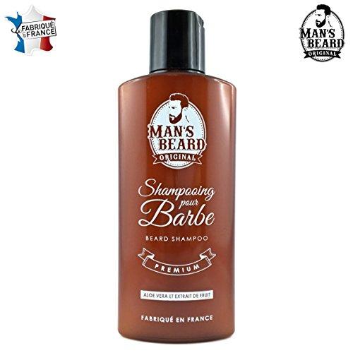 Man's Beard - Fabrication Française - Shampooing De Barbe Premium A L'Aloe Vera Et Extrait De Fruit - Adoucit Et Protège - Contenance : 150 ml