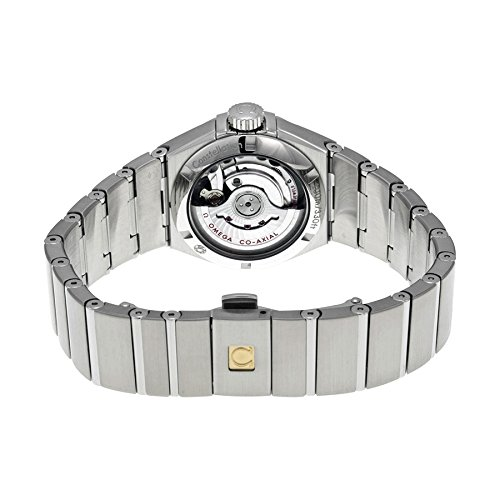 Omega Sternbild Schwarz Zifferblatt Edelstahl Stahl Damen Watch 123.15.27.20.51.001 - 3