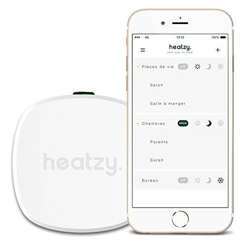 HEATZY Thermostat de Chauffage connecté, Blanc