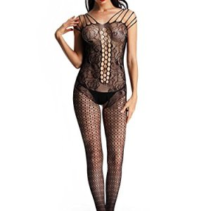 Luxemburg Women s Brasso and Net Bodystocking Lingerie Set (Black 261619a44
