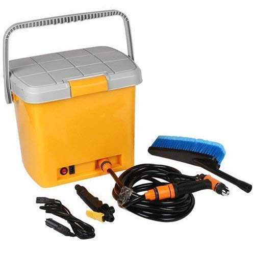 Toriox Portable 12V DC Electric Pressure Washer, Car Washer with Air Compressor High Pressure Water Pump, Brush,16 Litter Water Tank Storage Box, High Pressure Wand Perfect for Washing Vehicle, Cars
