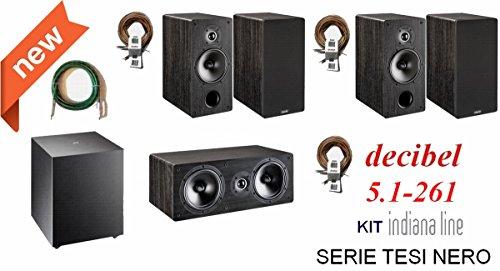 Indiana Line TESI 261 Decibel kit completo Home Cinema 5.1 con cavi OFC di qualità