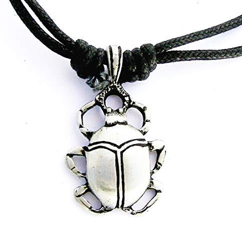 Escarabajo egipcio para el cuello en estaño