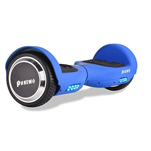 Phaewo Hoverboard Wings X6 – Monopattino elettrico 6.5' con LED e borsa da trasporto gratuita,...